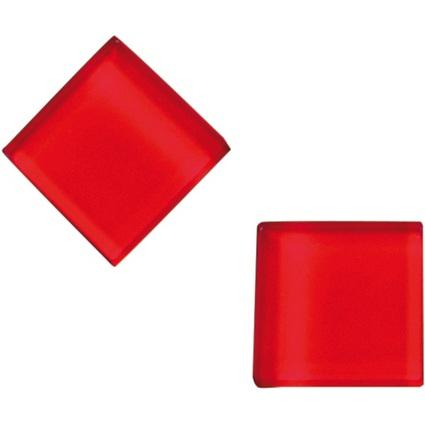 FRANKEN Neodym-Glasmagnet, (B)25 x (T)25 x (H)8 mm, rot