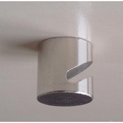 FRANKEN Neodym-Magnethaken, rund, Durchm.: 16 mm, chrom
