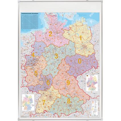 FRANKEN Deutschland Postleitzahlen-Karte, pinnbar
