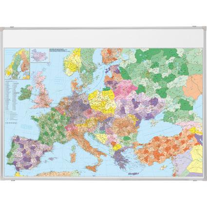 FRANKEN Europakarte, magnethaftend, (B)1.400 x (H)1.000 mm