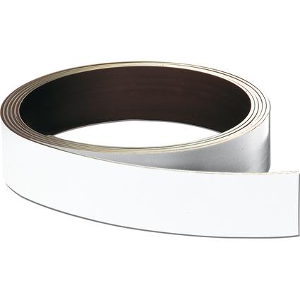 FRANKEN Magnetband, (L)10.000 x (T)0,8 x (H)40 mm, weiß