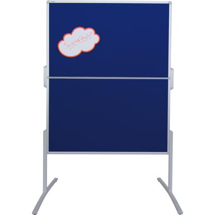 FRANKEN Moderationstafel PRO, klappbar, Filz blau