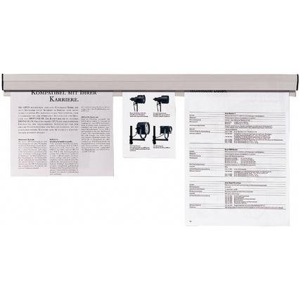 FRANKEN Papierklemmschiene, selbstklebend, Länge: 580 mm