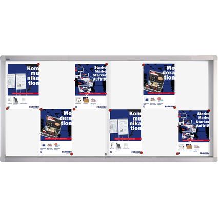 FRANKEN Schaukasten PRO für 12x DIN A4, Metall-Rückwand