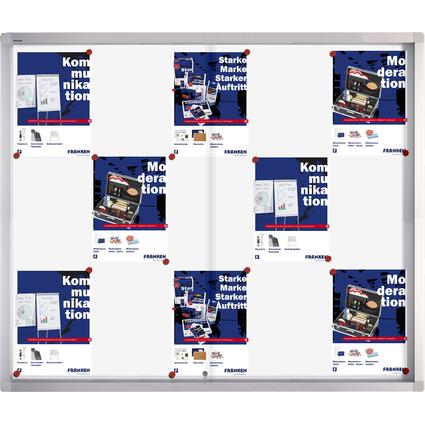 FRANKEN Schaukasten PRO für 15x DIN A4, Metall-Rückwand