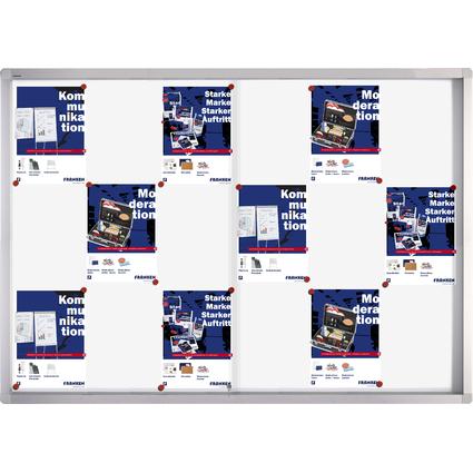 FRANKEN Schaukasten PRO für 18x DIN A4, Metall-Rückwand