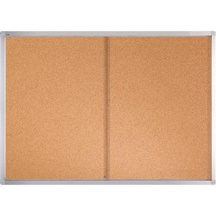 FRANKEN Schaukasten PRO für 27x DIN A4, Kork-Oberfläche