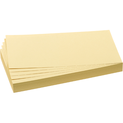 FRANKEN Moderationskarte, Rechteck, 205 x 95 mm, gelb