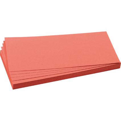 FRANKEN Moderationskarte, Rechteck, 205 x 95 mm, rot