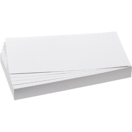FRANKEN Moderationskarte, Rechteck, 205 x 95 mm, weiß
