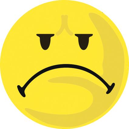 FRANKEN Moderationskarte, Wertungssymbol: Negativ, gelb