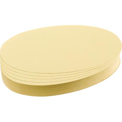 FRANKEN Moderationskarten Ovale, 110 x 190 mm, gelb