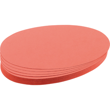 FRANKEN Moderationskarten Ovale, 110 x 190 mm, rot
