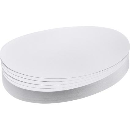 FRANKEN Moderationskarten Ovale, 110 x 190 mm, weiß