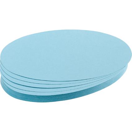 FRANKEN Moderationskarten Ovale, 110 x 190 mm, hellblau