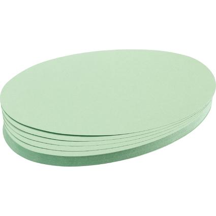 FRANKEN Moderationskarten Ovale, 110 x 190 mm, hellgrün
