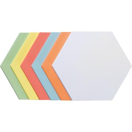 FRANKEN Moderationskarten Wabe, selbstklebend, sortiert