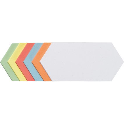 FRANKEN Moderationskarten Rhombus 95 x 205 mm, sortiert