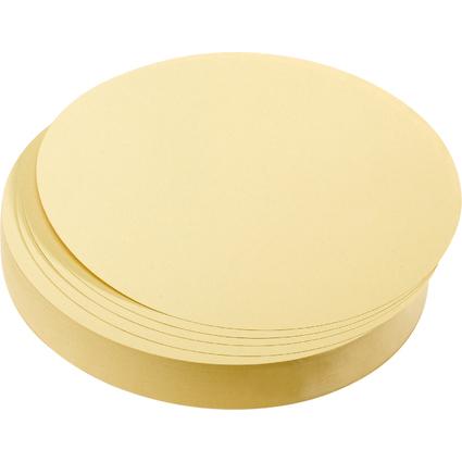 FRANKEN Moderationskarten Kreise, Durchm.: 140 mm, gelb