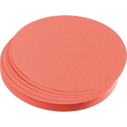 FRANKEN Moderationskarten Kreise, Durchm.: 195 mm, rot