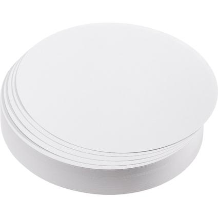 FRANKEN Moderationskarten Kreise, Durchm.: 195 mm, weiß