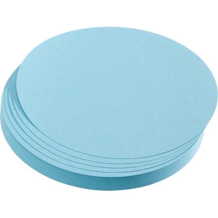 FRANKEN Moderationskarten Kreise, Durchm.: 95 mm, hellblau