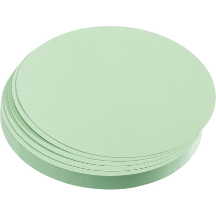 FRANKEN Moderationskarten Kreise, Durchm.: 140 mm, hellgrün