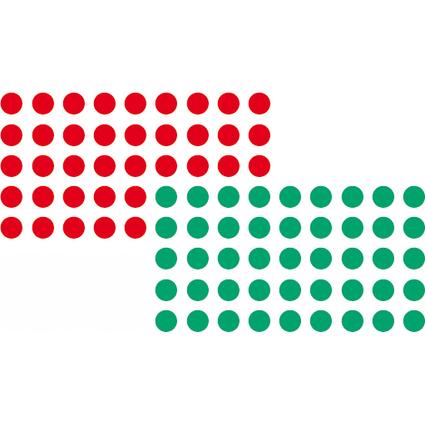 FRANKEN Markierungspunkte, selbstklebend, rot und grün