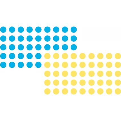 FRANKEN Markierungspunkte, selbstklebend, blau und gelb