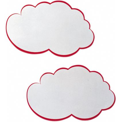 FRANKEN Moderationskarte Wolke, 420 x 250 mm, weiß mit