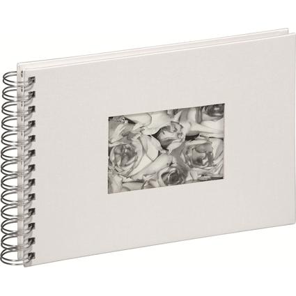 PAGNA Foto-Spiralalbum, Leineneinband, weiß