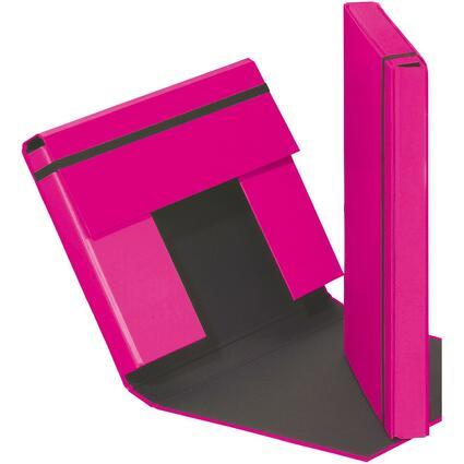 "PAGNA Heftbox ""Trend Colours"", DIN A4, dunkelrosa"