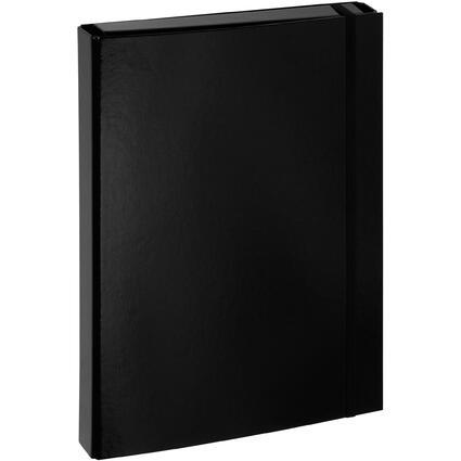 "PAGNA Heftbox ""Basic Colours"", DIN A4, schwarz"