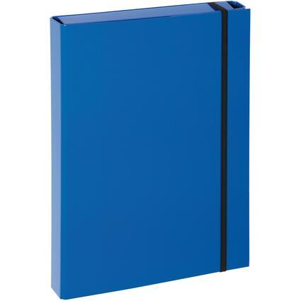 "PAGNA Heftbox ""Basic Colours"", DIN A4, blau"
