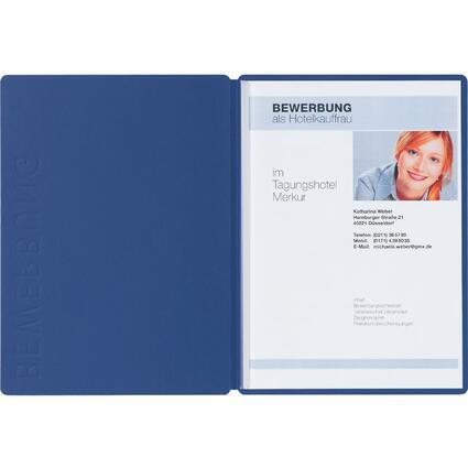 "PAGNA Bewerbungsmappe ""Solo"", DIN A4, aus Karton, blau"
