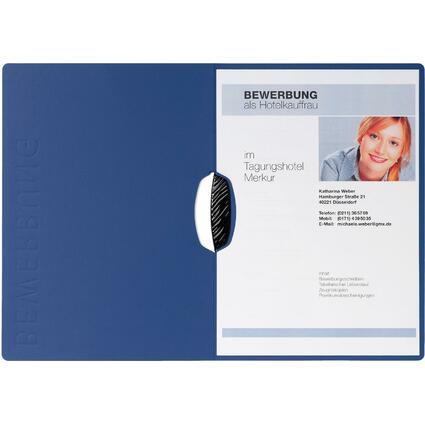 "PAGNA Bewerbungsmappe ""Swing"", DIN A4, aus Karton, blau"