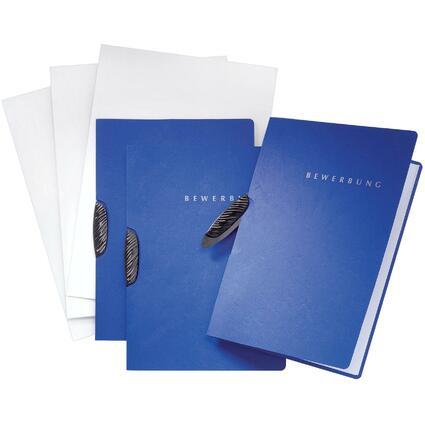 "PAGNA Bewerbungs-Set ""Swing"", DIN A4, aus Karton, blau"