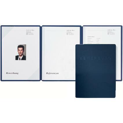 """PAGNA Bewerbungsmappe """"Square"""", DIN A4, blau"""