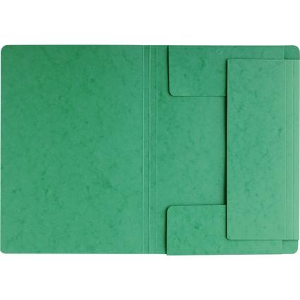 PAGNA Eckspannermappe, aus Karton, DIN A4, grün