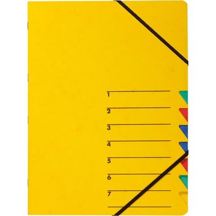 """PAGNA Ordnungsmappe """"EASY"""", DIN A4, Karton, 7 Fächer, gelb"""