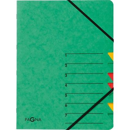 "PAGNA Ordnungsmappe ""EASY"", DIN A4, Karton, 7 Fächer, grün"