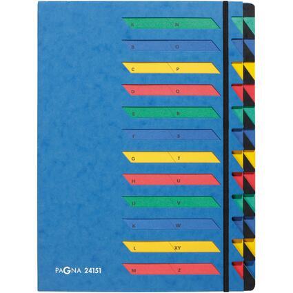 PAGNA Ordnungsmappe DESKORGANIZER A-Z, 24 Fächer, blau