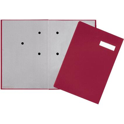 PAGNA Unterschriftenmappe, DIN A4, 20 Fächer, rot