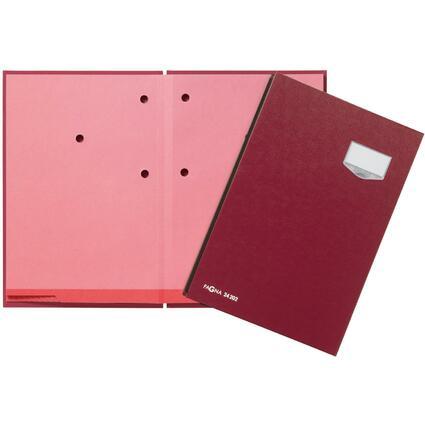 """PAGNA Unterschriftenmappe """"DE LUXE"""", DIN A4, 20 Fächer, rot"""
