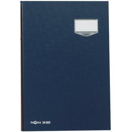 """PAGNA Unterschriftenmappe """"DE LUXE"""", DIN A4, 20 Fächer, blau"""