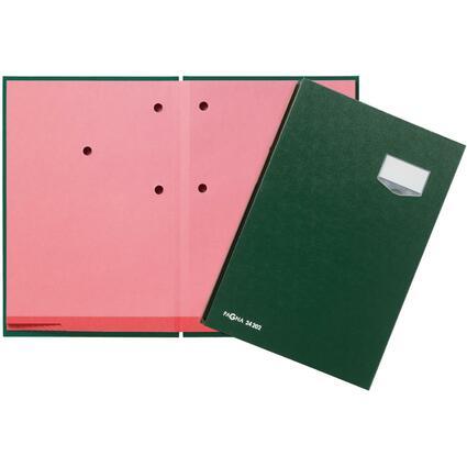 """PAGNA Unterschriftenmappe """"DE LUXE"""", DIN A4, 20 Fächer, grün"""