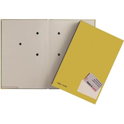 PAGNA Unterschriftenmappe Color, DIN A4, 20 Fächer, gelb