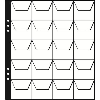 PAGNA Münzhüllen, 20 Fächer à 45 x 45 mm, 215 x 235 mm
