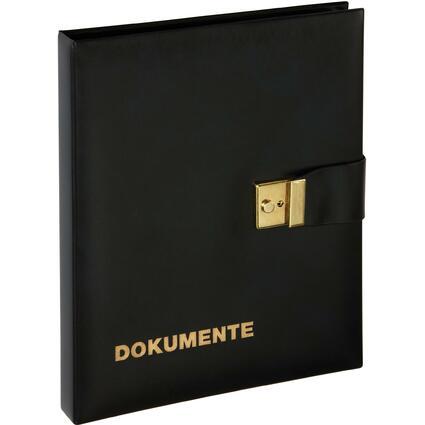 PAGNA Dokumentenmappe, Kunstleder, DIN A4, schwarz