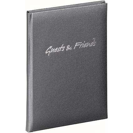 """PAGNA Gästebuch """"Guests & Friends"""", anthrazit, 240 Seiten"""